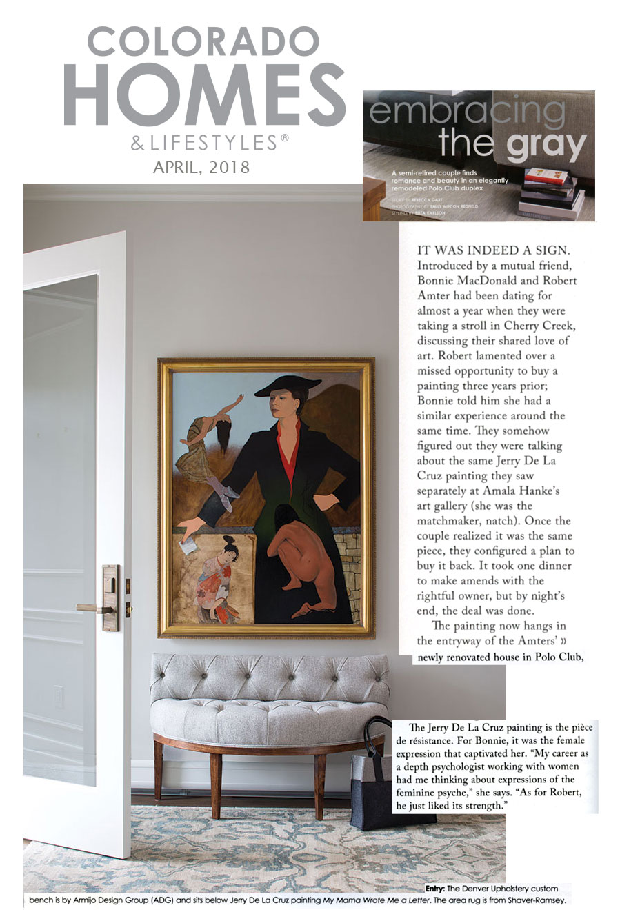 Colorado Homes & Lifestyles Article re artist Jerry De La Cruz